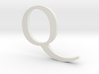 Q (letters series) 3d printed