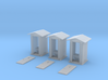 HO-Scale Peaked Roof Outhouse (3-Pack) 3d printed