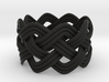 Turk's Head Knot Ring 4 Part X 8 Bight - Size 7 3d printed
