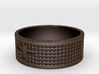Textured Cross Ring Ring Size 10 3d printed