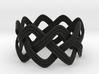 Turk's Head Knot Ring 3 Part X 8 Bight - Size 12.5 3d printed