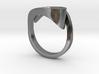 Ultra modern curve ring 3d printed
