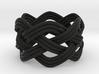 Turk's Head Knot Ring 4 Part X 6 Bight - Size 7 3d printed
