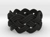 Turk's Head Knot Ring 4 Part X 9 Bight - Size 6.75 3d printed