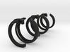 AJ Initials Ring 3d printed