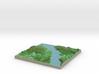 Terrafab generated model Mon Sep 30 2013 18:47:36  3d printed