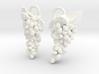 Grapes Earrings 3d printed