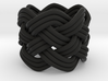 Turk's Head Knot Ring 5 Part X 6 Bight - Size 0 3d printed