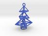 Modern Christmas Tree Earrings 3d printed