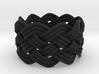 Turk's Head Knot Ring 5 Part X 9 Bight - Size 7 3d printed