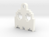 Pac Man Ghost 8-bit Earring 2 (looks up | moving) 3d printed