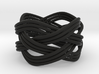 Turk's Head Knot Ring 4 Part X 4 Bight - Size 7 3d printed