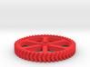 Double Helical Involute Gear M1.5 T50 3d printed