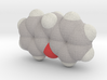 Xanthan molecule (x40,000,000, 1A = 4mm) 3d printed