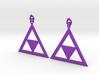 Princess Zelda Triforce Earrings 3d printed