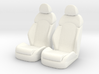 1 12 Luxury Bucket Seat Pair 3d printed
