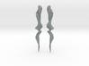 Temporal Twist Drop Earrings 3d printed