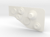 Bowcaster Left Knob Plate 3d printed