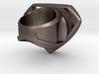 Man Of Steel Ring 3d printed