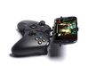 Xbox One controller & Plum Axe 3d printed Side View - A Samsung Galaxy S3 and a black Xbox One controller