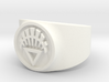 White Life GL Ring (Sz's 5-15) 3d printed