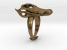 Alligator Skull Adjustable Ring 3d printed
