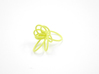 Flora Ring A (Size 8) 3d printed Custom Dyed Color (Key Lime)