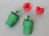 Man-eating Plant Valve Caps - Presta - part 1 of 2 3d printed Head and base sold separately. Easily snaps together.