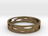 Bronze Circles (Size 7) 3d printed