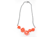 Sprouted Spiral Necklace 3d printed Coral (Custom Dyed Color)