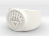 White Life GL Ring Sz 11 3d printed