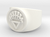White Life GL Ring Sz 9 3d printed