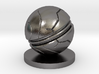 Slaughterball ball 3d printed Polished Nickel Steel