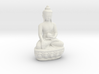 Sitting Buddha with a medicine pot. 3d printed