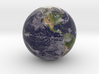 "Cloudy Earth Marble 1"" Diameter 3d printed"