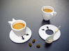 Wings Espresso Cups (1 Cup & 1 Saucer) 3d printed
