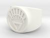 White Life Ver 2 GL Ring Sz 7 3d printed
