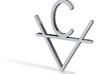 Albert Caine Symbol 3d printed