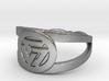 Valknut insignia ring Ring Size 7 3d printed