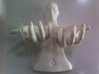 The Goddess of Tranquillity 3d printed White polished strong and flexible