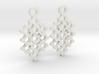 Circle Pattern Earrings 3d printed