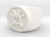 Orange Avarice GL Ring Sz 6 3d printed