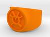 Orange Avarice GL Ring Sz 9 3d printed