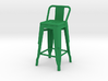 1:12 Pauchard Stool, with Short Back 3d printed