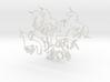 Unicorns: Wire Wall Art 3d printed