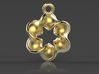 Six-pointed Star Pendant【size-S】 3d printed The rendered image may not match the product you have ordered exactly.