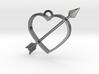 Cupid's Arrow Heart Pendant 3d printed