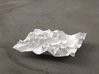 4'' Glacier National Park, Montana, USA 3d printed Rendering of model, looking East over the Going-to-the-Sun Road