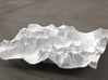 6'' Glacier National Park, Montana, USA 3d printed Rendering of model, looking East over the Going-to-the-Sun Road