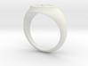 Signet Ring - Fleur De Lis 3d printed